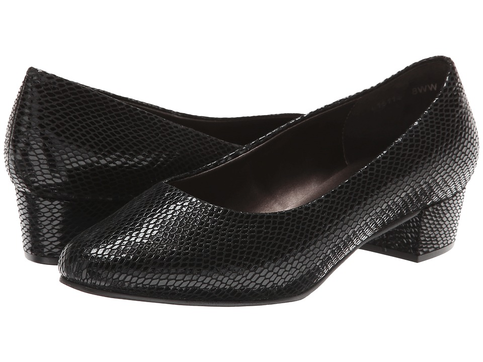 Rose Petals - Emma (Black Snake Print) Women's Shoes