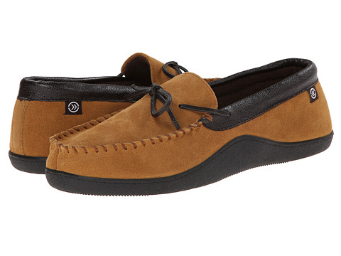 ISOTONER Signature - Suede Boater Moc (Cognac) Men's Slippers