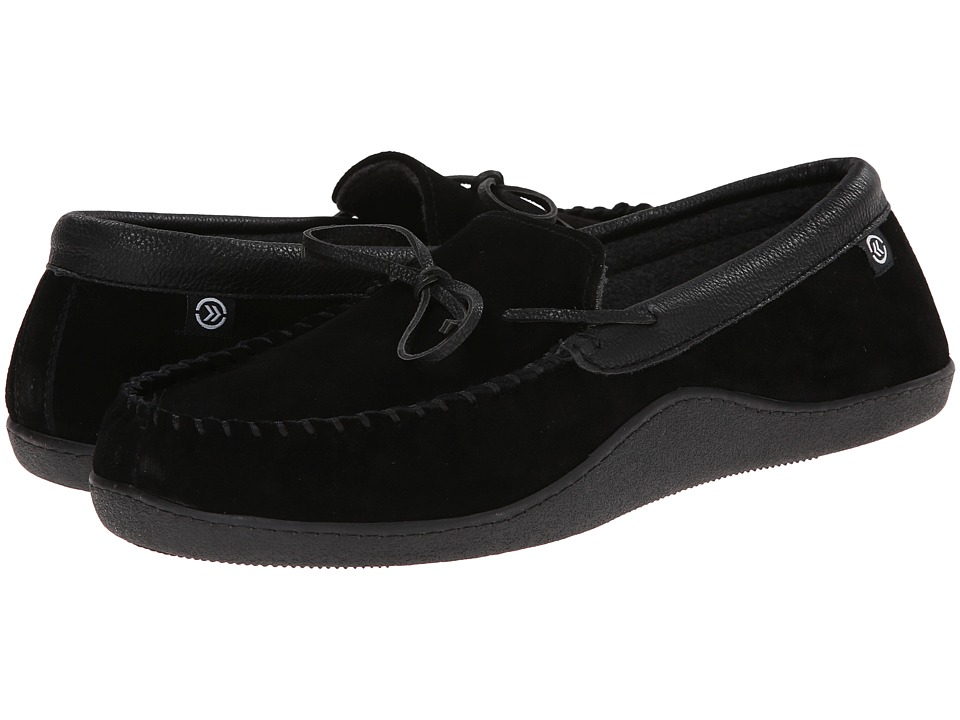 ISOTONER Signature - Suede Boater Moc (Black) Men