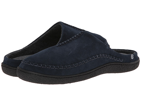 ISOTONER Signature - Suede Clog (Navy) Men's Slippers