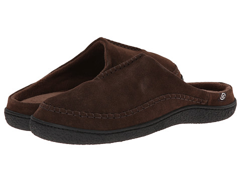 ISOTONER Signature - Suede Clog (Chocolate) Men