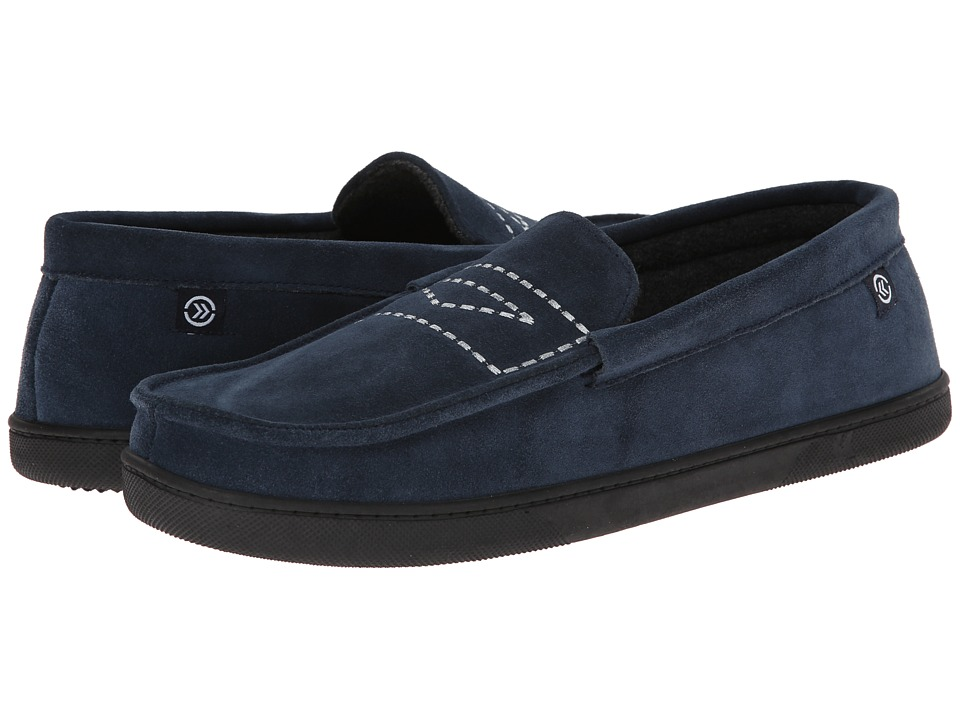 ISOTONER Signature - Suede Moc (Navy) Men