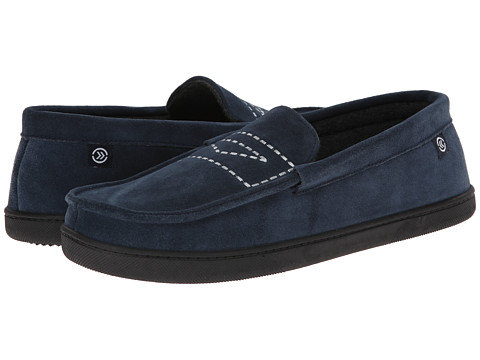 ISOTONER Signature - Suede Moc (Navy) Men's Slippers
