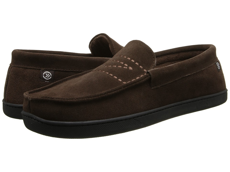 ISOTONER Signature - Suede Moc (Chocolate) Men's Slippers