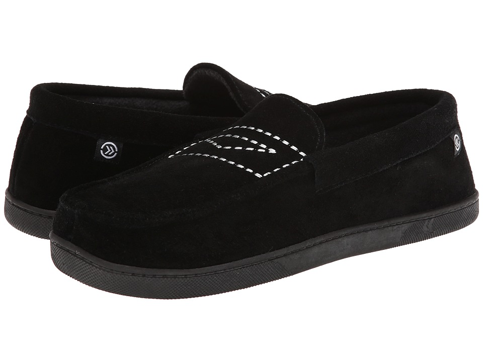 ISOTONER Signature - Suede Moc (Black) Men