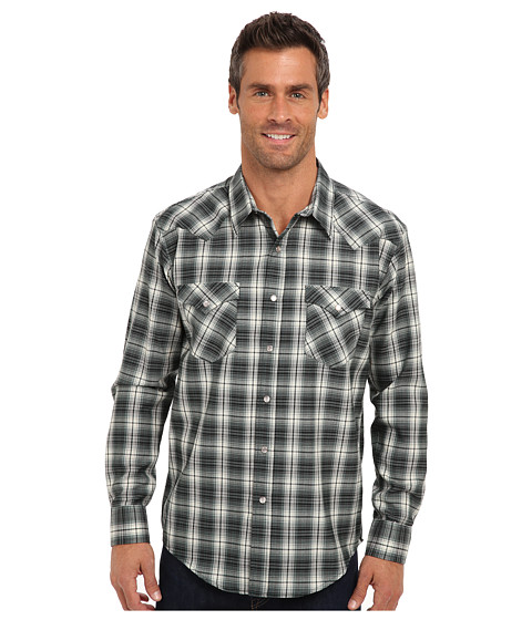 Pendleton - L/S Fitted Epic Shirt (Green/Grey Ombre) Men