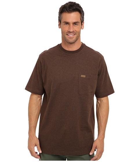 Pendleton - S/S Deschutes Pocket T-Shirt (Dark Brown Mix) Men