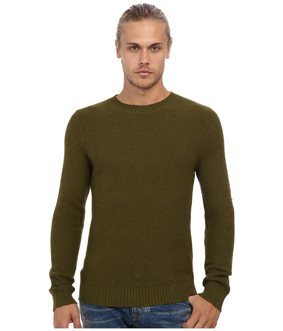 Gant Rugger - R. Pineapple Knit Sweater (Aspen Leaf) Men