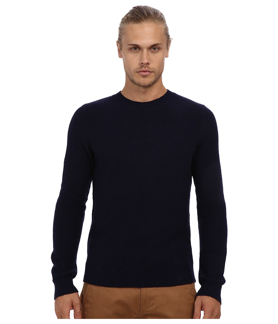 Gant Rugger - R. Pineapple Knit Sweater (Evening Blue) Men's Sweater