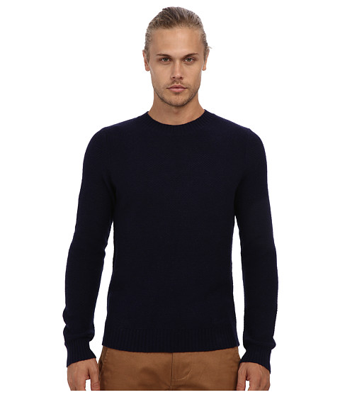 Gant Rugger - R. Pineapple Knit Sweater (Evening Blue) Men