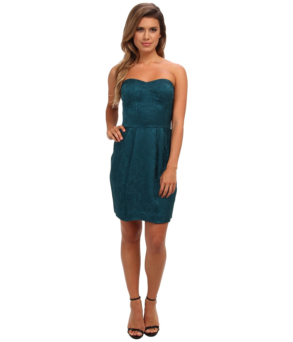 Rebecca Taylor - Sequin Silk Strapless Dress (Emerald) Women's Dress