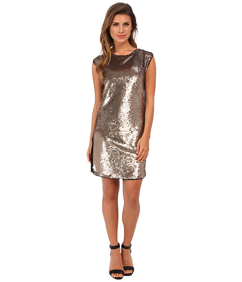 Rebecca Taylor - All Over Sequin Dress (Gold) Women's Dress