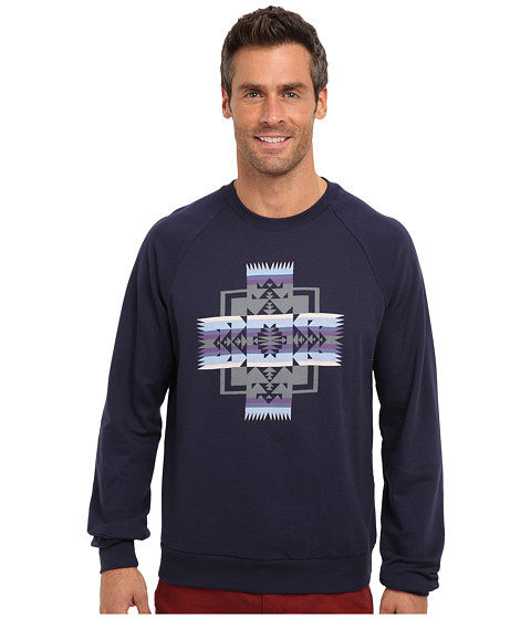 Pendleton - Printed Crew Fleece (Blue Chief Jo) Men's Fleece