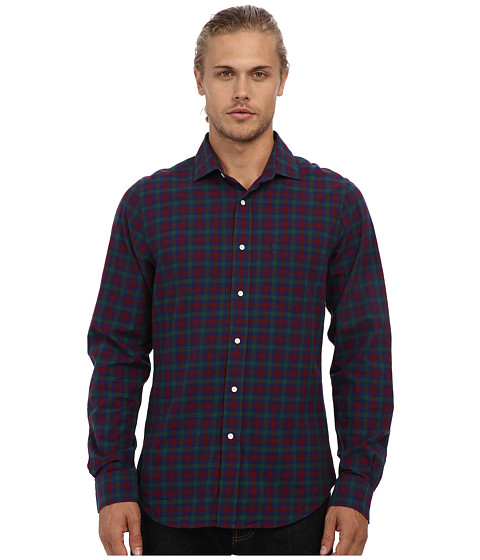 Gant Rugger - R. Winter Madras Hugger Spread Collar Button Down (Rio Red) Men