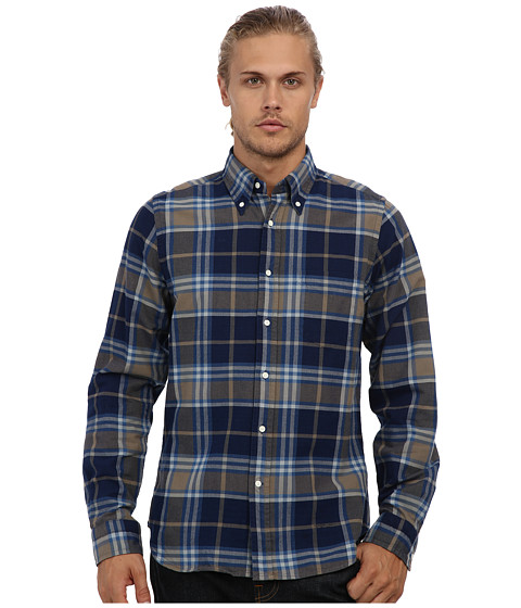 Gant Rugger - R. Indigo Oxford Hugger Original Button Down (Indigo) Men's Long Sleeve Button Up