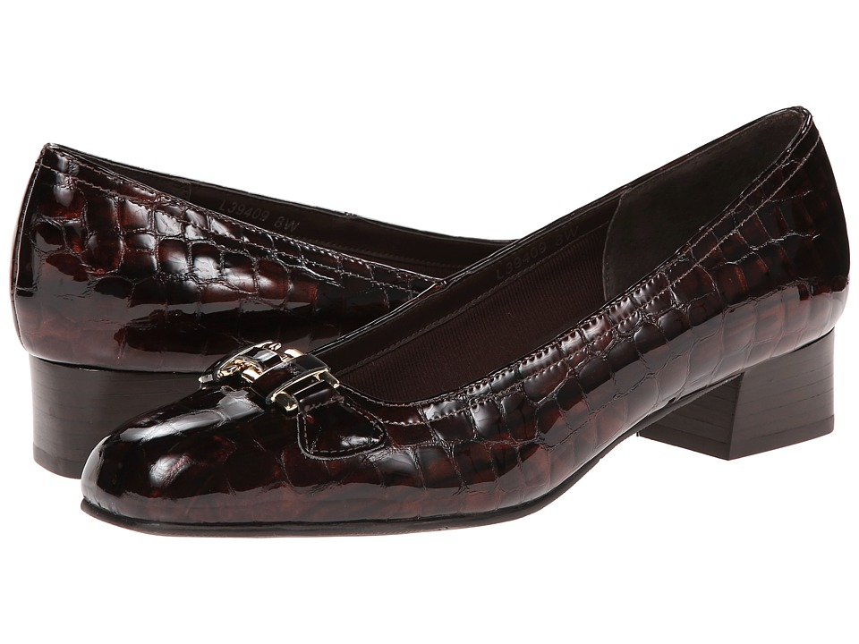 Rose Petals Lillian (Brown Croc Patent) Women