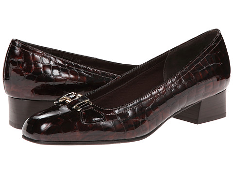 Rose Petals - Lillian (Brown Croc Patent) Women's Shoes