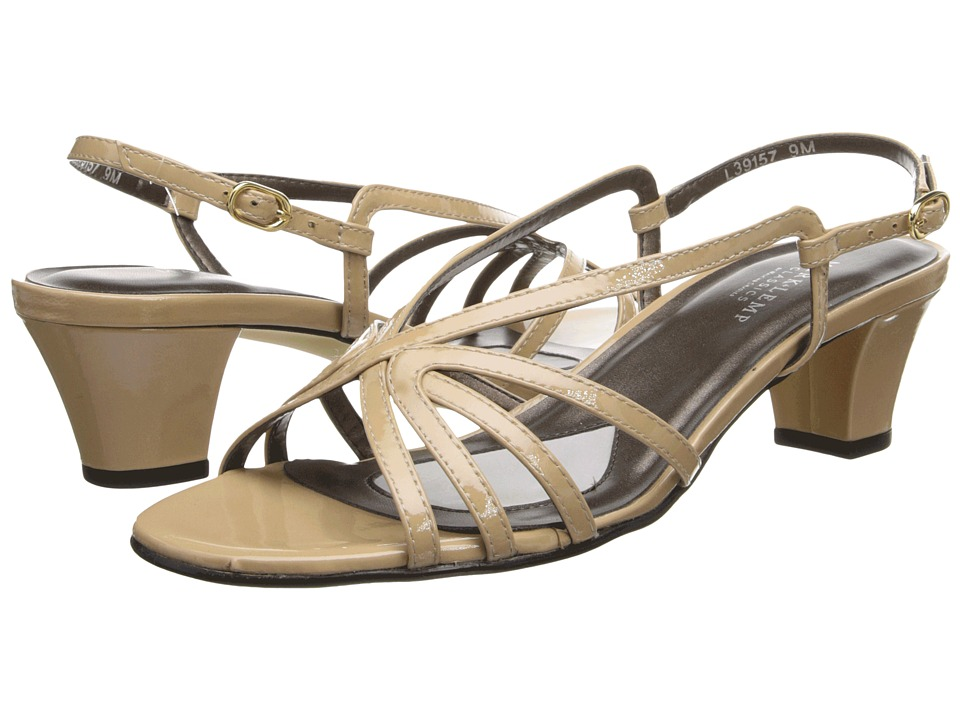 Walking Cradles - Leash (Nude Patent) Women's Sandals