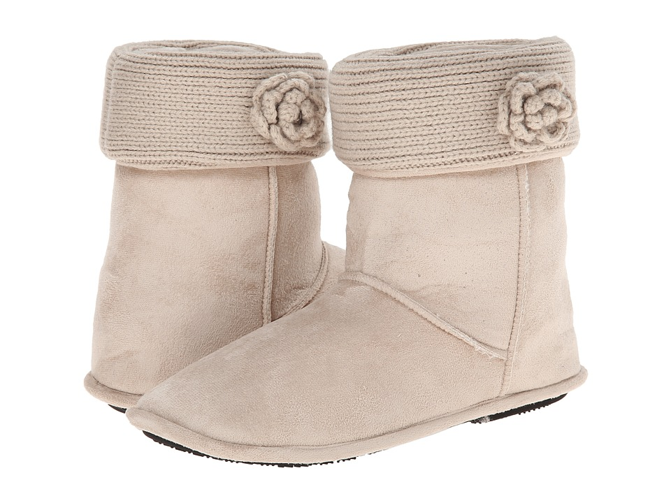 ISOTONER Signature - Clara Boot with Flower (Stone) Women