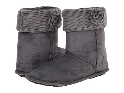ISOTONER Signature - Clara Boot with Flower (Ash) Women