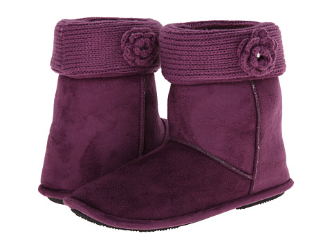 ISOTONER Signature - Clara Boot with Flower (Vino) Women