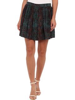 SALE! $132.99 - Save $192 on Rebecca Taylor Python Skirt (Emerald) Apparel - 59.08% OFF $325.00