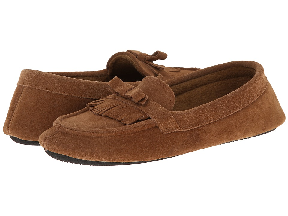 ISOTONER Signature - Desta Moccasin with Fringe (Buckskin) Women's Slippers