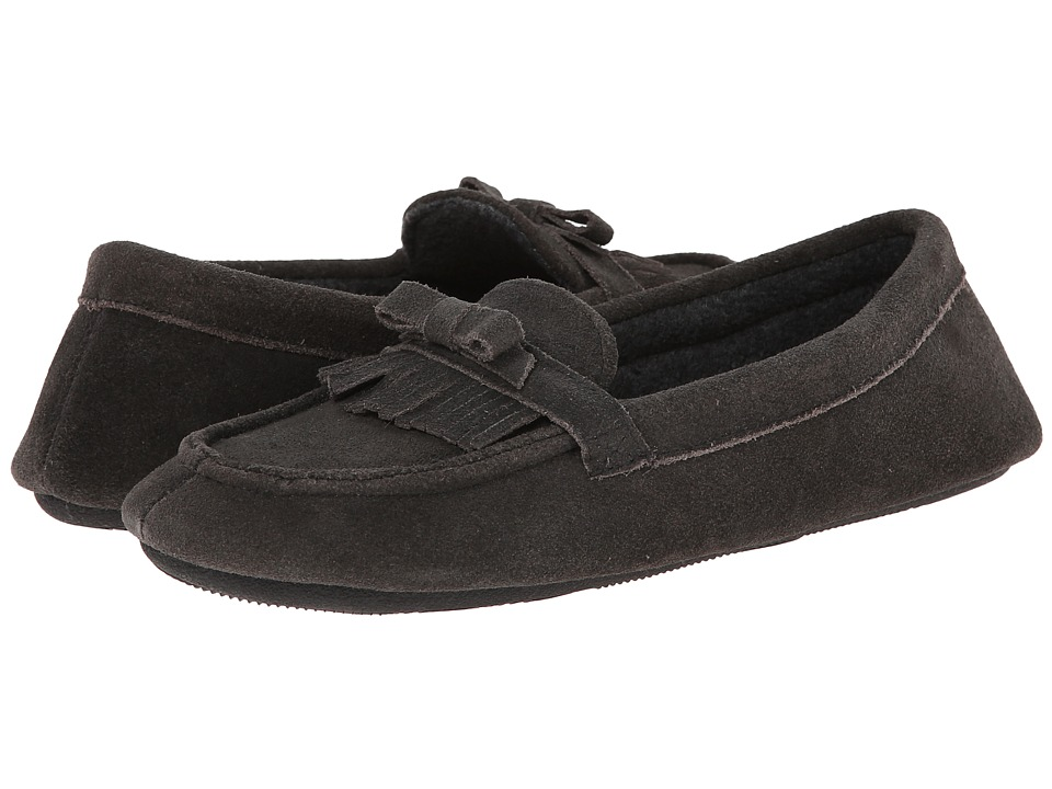 ISOTONER Signature - Desta Moccasin with Fringe (Gunmetal) Women