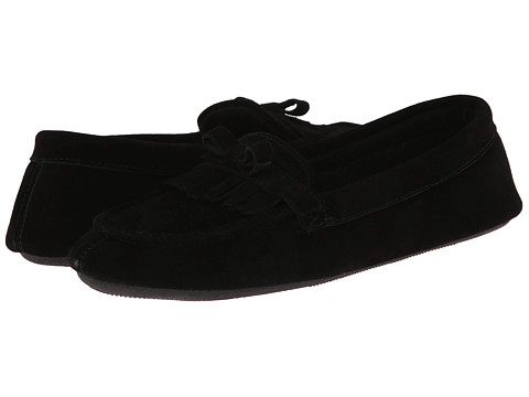 ISOTONER Signature - Desta Moccasin with Fringe (Black) Women