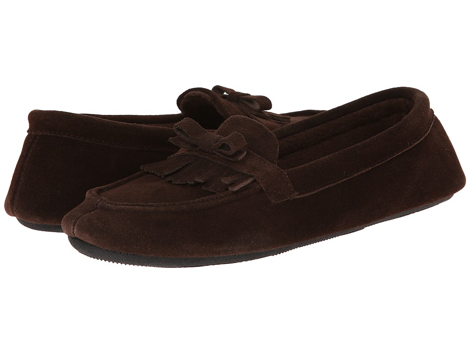 ISOTONER Signature - Desta Moccasin with Fringe (Dark Chocolate) Women