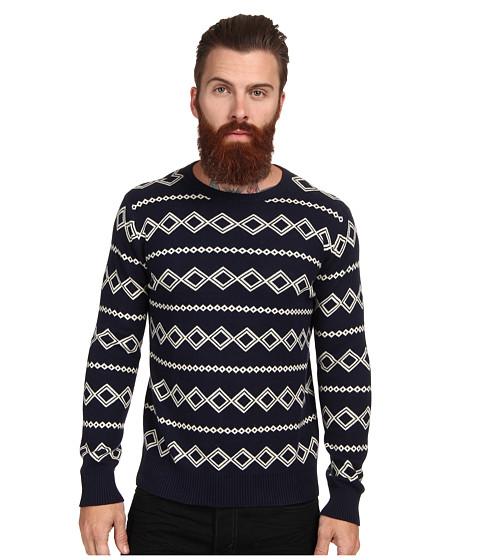 Gant Rugger - R. Diamond Jacquard Sweater (Marine) Men