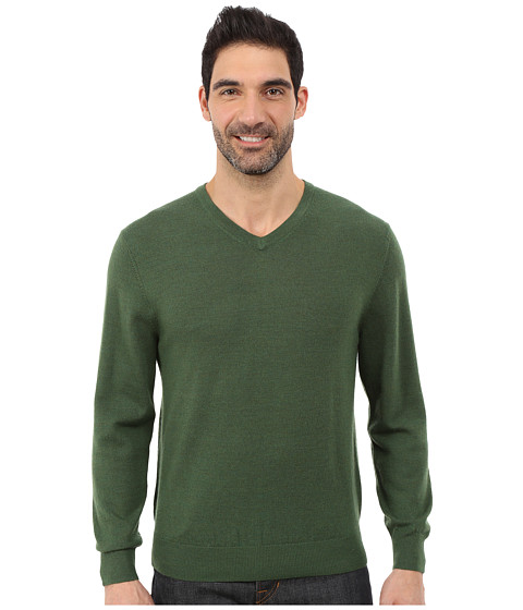 Pendleton - L/S Merino Vee Neck Sweater (Rainforest) Men