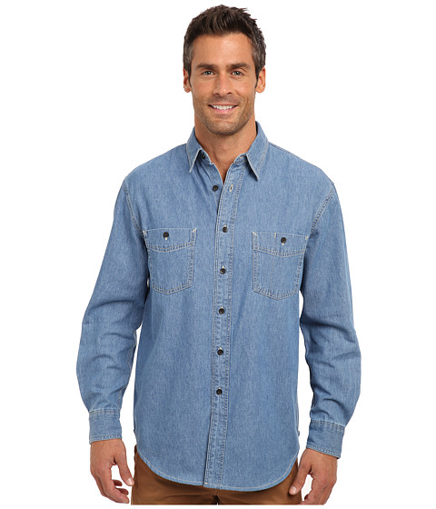 Pendleton - Rivergrove Denim Shirt (Denim) Men's Long Sleeve Button Up