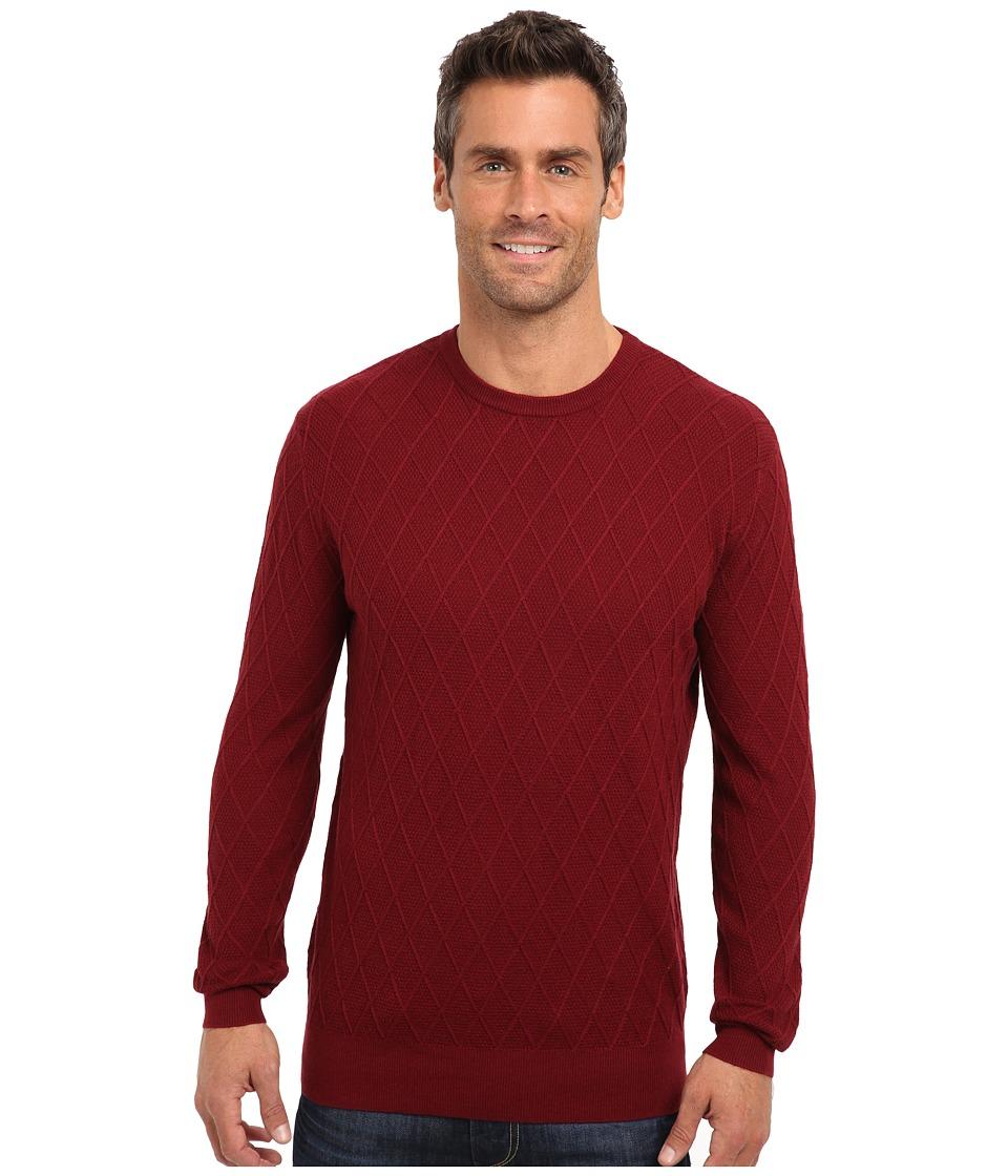 Pendleton - Lightweight Crew Sweater (Dark Red) Men