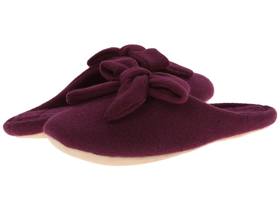 ISOTONER Signature - Cashmere Aria (Vino) Women's Slippers