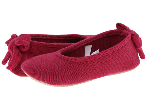 ISOTONER Signature - Cashmere Bow Ballerina (Wild Berry) Women's Slippers