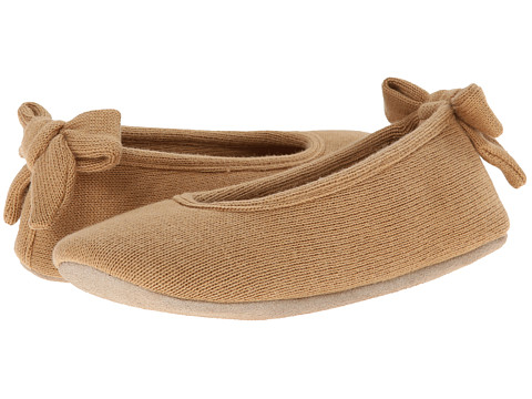 ISOTONER Signature - Cashmere Bow Ballerina (Smoky Taupe) Women's Slippers