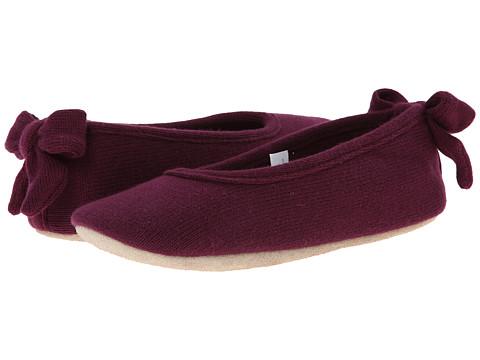 ISOTONER Signature - Cashmere Bow Ballerina (Vino) Women's Slippers
