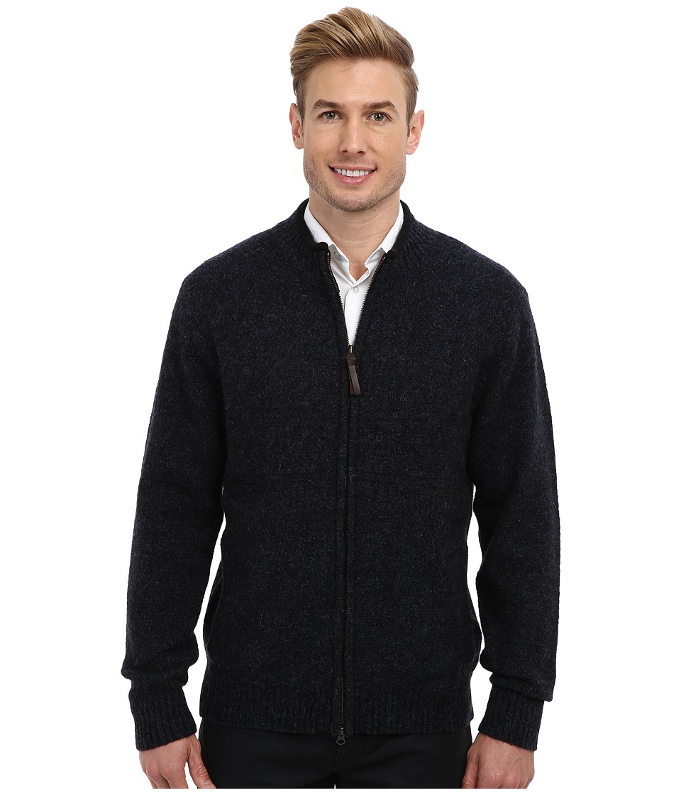 Pendleton - Weekender Zip Front Cardigan (Indigo/Black) Men's Sweater