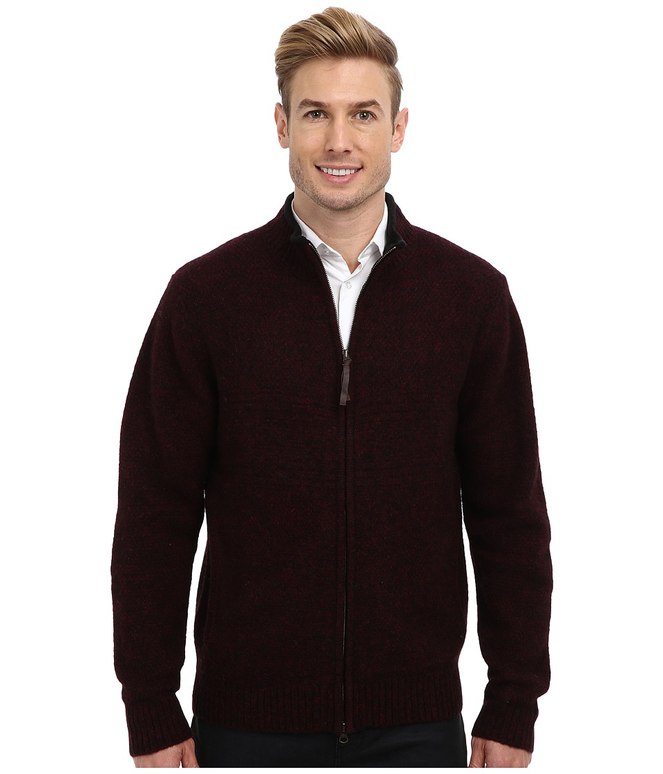 Pendleton - Weekender Zip Front Cardigan (Black) Men's Sweater