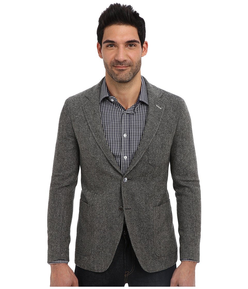 Gant Rugger - R. The Herringbone Blazer (Graphite Melange) Men's Jacket