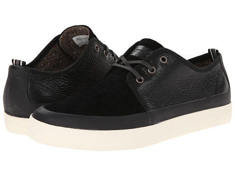 PF Flyers - Perkins (Black Leather/Suede) Men's Lace up casual Shoes