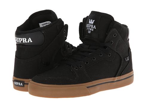 Supra Kids - Vaider (Little Kid/Big Kid) (Black/Gum Canvas) Kids Shoes