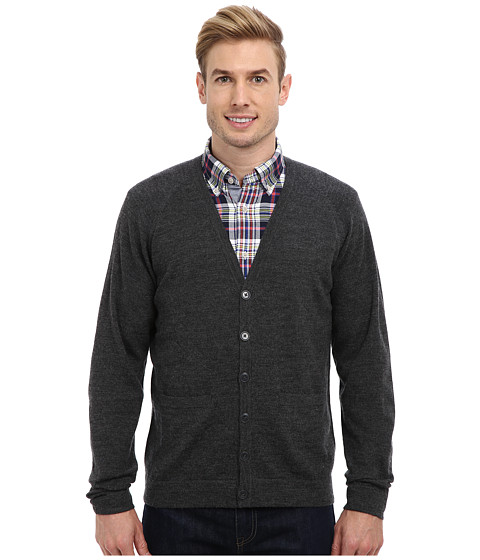 Pendleton - Merino Cardigan (Charcoal) Men's Sweater