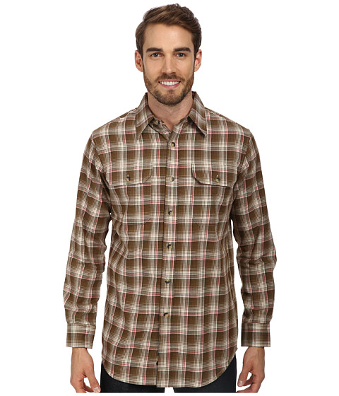 Pendleton - Pioneer Fitted Shirt (Olive Ombre) Men's Long Sleeve Button Up