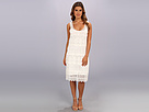 Adrianna Papell Sleeveless Scoop Neck Dress w/ Tiered Crochet Lace