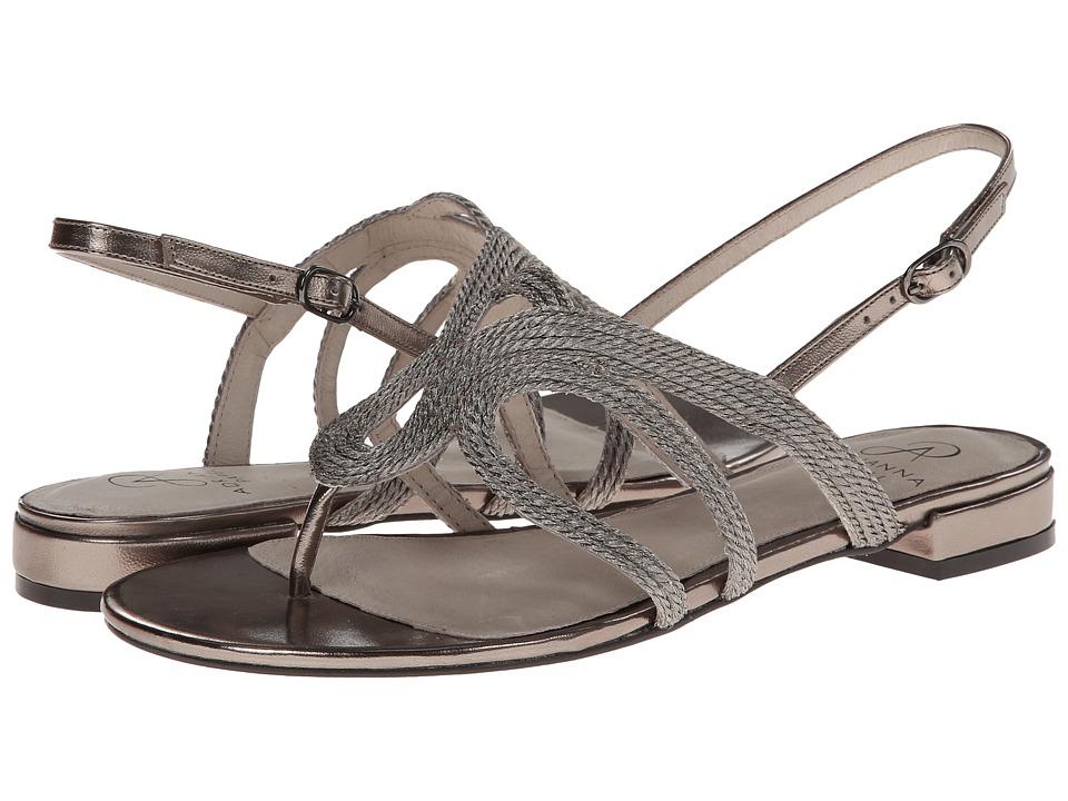 Adrianna Papell - Minerva (Gunmetal Metallic Rope) Women's Sandals