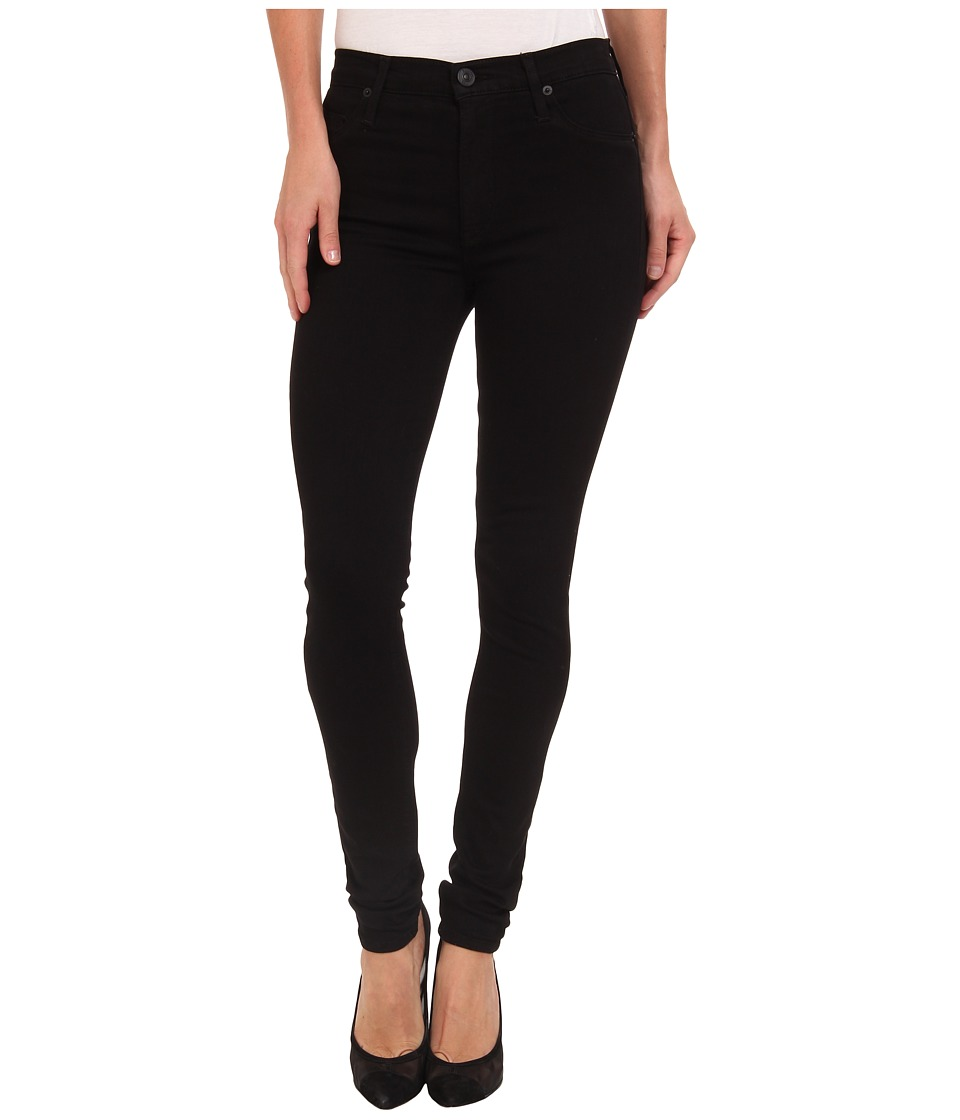 Hudson - Barbara High Waist Super Skinny in Black (Black) Women's Jeans