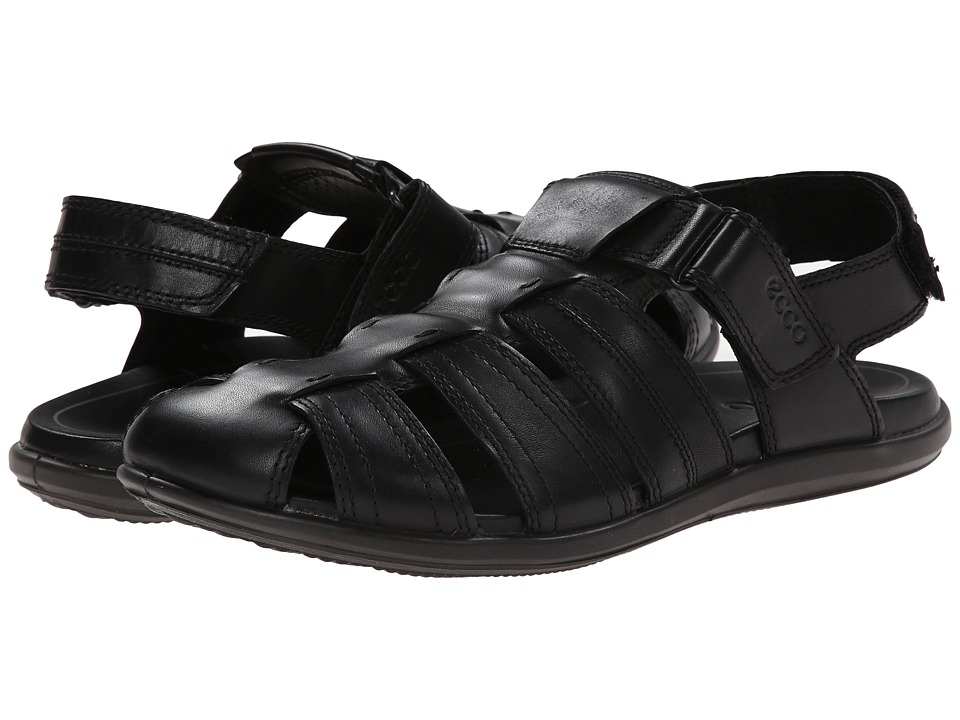 ECCO - Chander Closed Toe Sandal (Black) Men's Shoes