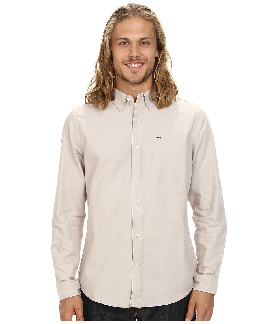 Hurley - Ace Oxford L/S Woven Shirt (Light Iron Ore) Men's Long Sleeve Button Up